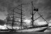 Gaspar Avila Framed Prints - Portuguese tall ship Framed Print by Gaspar Avila