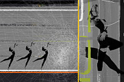 Athletics Digital Art Metal Prints - Pose and Jump Metal Print by Irina  March