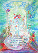 Spiritual Paintings - Poseidian Priestess by Joyce Jackson