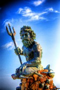 Greek Sculpture Prints - Poseidon Print by Dan Stone