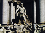 Di Digital Art - Poseidon Statue Fontana di Trevi Rome by Sarah Wright