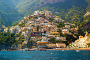 Ocean Panorama Metal Prints - Positano  Metal Print by Francesco Riccardo  Iacomino