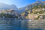 European Union Prints - Positano Harbor View Print by George Oze