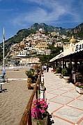 Hill Towns Framed Prints - Positano Italy Framed Print by Xavier Cardell