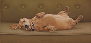 Canine Pastels - Position Is Everything in Life by Barbara Groff