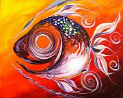 Tropical Fish Paintings - Positive Perception by J Vincent Scarpace