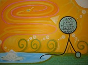 Tongue Painting Originals - Positive Pondering by Cory Green