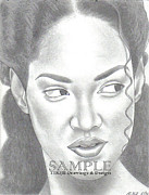 Business Cards Drawings - Posner Girl by Rick Hill