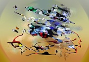 Warm Digital Art Originals - Possibilities by Leo Symon