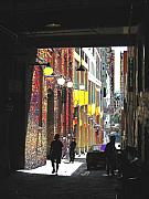 Seattle Digital Art Framed Prints - Post Alley Framed Print by Tim Allen