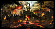Destruction Digital Art Metal Prints - Post Apocalyptic Disneyland Metal Print by Alex Ruiz