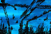 Sunset Drawings Originals - Post Apocalyptic Inside Building Skyline by Jera Sky
