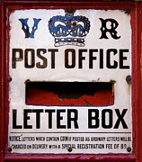 Crown Posters - Post box Poster by Jane Rix