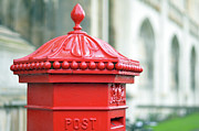 Cambridge Metal Prints - Post Box ,royal Mail Metal Print by Denise Couturier
