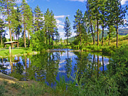 Idaho Scenery Prints - Post Falls - Scenic Idaho Reflections Print by Photography Moments - Sandi