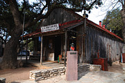 Vintage Landscape Framed Prints - Post Office in Luckenbach Texas Framed Print by Susanne Van Hulst