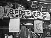 Mailman Posters - Post Office  Luckenbach Texas Poster by Joe JAKE Pratt