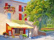 Provence Village Framed Prints - Postcard from Provence Framed Print by Bunny Oliver