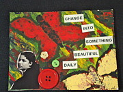 Obama Mixed Media - Postcards from the edge change by Esther Anne Wilhelm