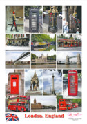 Peter L Wyatt Metal Prints - Poster - London - England Metal Print by Peter L Wyatt