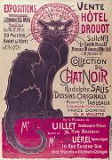 1859 Paintings - Poster advertising an exhibition of the Collection du Chat Noir cabaret by Theophile Alexandre Steinlen