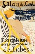 Paris Paintings - Poster advertising the Exposition Internationale dAffiches Paris by Henri de Toulouse-Lautrec
