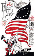 1910s Poster Art Posters - Poster For 140th Flag Day, 1777-1917 Poster by Everett