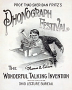 Thomas Edison Prints - Poster For A Music Festival, Text Reads Print by Everett