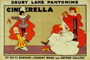 Pantomime Posters - Poster for Cinderella Poster by Tom Browne