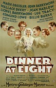 Novelist Framed Prints - Poster For The 1933 Film, Dinner At Framed Print by Everett