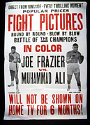 Boxer Framed Prints - Poster For The First Joe Frazier Vs Framed Print by Everett