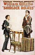 Detectives Metal Prints - Poster For William Gillette 1853-1937 Metal Print by Everett