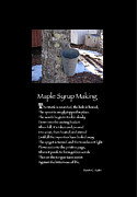 Poster Poem - Maple Syrup Making Print by Poetic Expressions