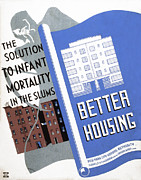 New York City Art Print Art - Poster Promoting Better Housing by Everett