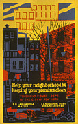 New York City Art Print Art - Poster Promoting Better Living by Everett