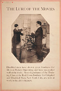Projector Framed Prints - Poster Showing Disabled Man Working Framed Print by Everett
