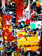 Street Art Prints - Poster Wall in Santiago  Print by Funkpix Photo Hunter