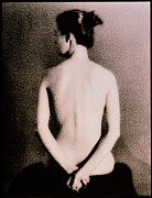 Naked Back Prints - Posterior View Of The Torso Of A Seated Woman Print by Cristina Pedrazzini