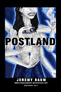 Novel Drawings - Postland by Jeremy Baum