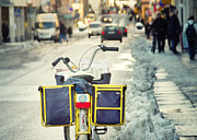 Sweden Photos - Postman Bicycle Sweden by Stylianos Kleanthous