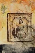 Antique Mixed Media Originals - Postmark Girl by Roberta Rose