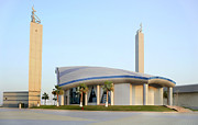 Postmodern Posters - Postmodern mosque in Qatar Poster by Paul Cowan