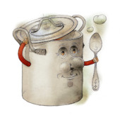 Food Drawings - Pot by Kestutis Kasparavicius