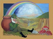 Irish Folklore Prints - Pot oGold Print by Frances  Dillon