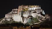 Holy Night Framed Prints - Potala palace at night Framed Print by Hitendra SINKAR