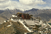 Dalai Lama Framed Prints - Potala Palace Framed Print by Martin Gray