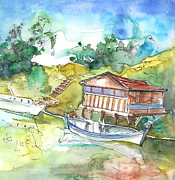 Napa Drawings Prints - Potamos Liopetri 01 Print by Miki De Goodaboom