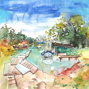 Napa Drawings Prints - Potamos Liopetri 02 Print by Miki De Goodaboom