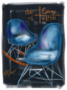 Eames Chair Framed Prints - Potato Chip Chair Framed Print by Russell Pierce