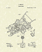 Farming Drawings - Potato Planter 1864 Patent Art by Prior Art Design